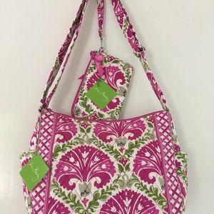 Vera Bradley Bag/Wristlet Set