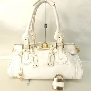 CHLOÉ Paddington white leather bag