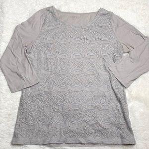 Scalloped Lace LOFT top