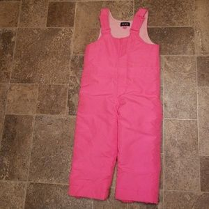 Children's Place Snows Bib, hot pink, size 3T