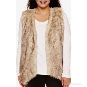 ALYX 1X Stretch Knit Faux Fur Sleeveless Vest