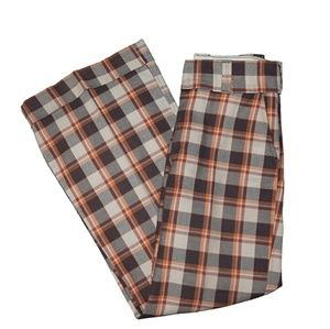 "1970's Vintage ""Male"" Brand Plaid Bell Bottoms"