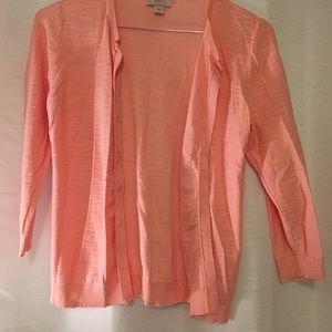 Loft Coral Sweater Cardigan