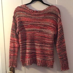 Orange cozy knit sweater