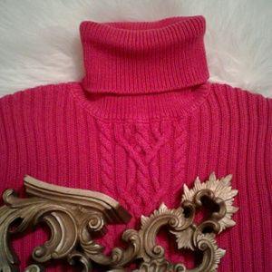 ❌M Ralph Lauren Pink Knit Turtleneck Blouse
