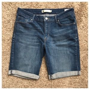 Levi's Size 12 Blue Jean Bermuda Shorts