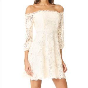RSVP By BB Dakota Cream Lace Off Shoulder Dress