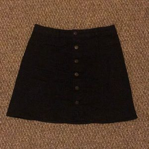 Black Mossimo button-up denim skirt