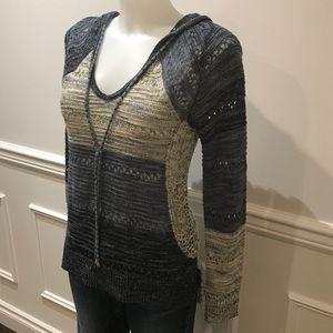 Boho INC long sleeve knit sweater with hood