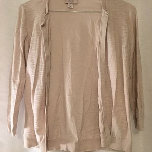 LOFT Beige Sweater Cardigan