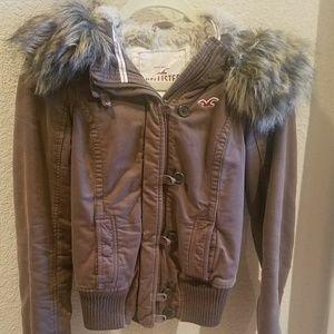 Hollister Jacket with Furry Hood