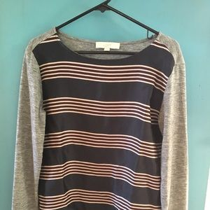 Loft striped shirt size medium