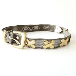 Silver Tone Metal  Mesh Chain Belt