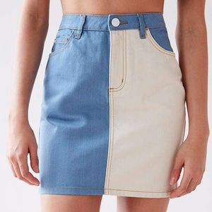 Urban Outfitters' BDG Two-Tone Mini Skirt