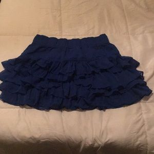 Blue Hollister Ruffle Skirt