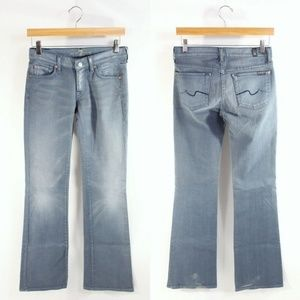 7 for all Mankind 25 Bootcut Light Blue Jeans