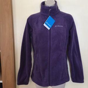 COLUMBIA plum zipper fleece jacket/NWT