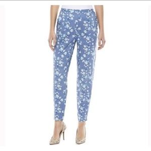 Lauren Conrad Tapered High Waist Floral Pant