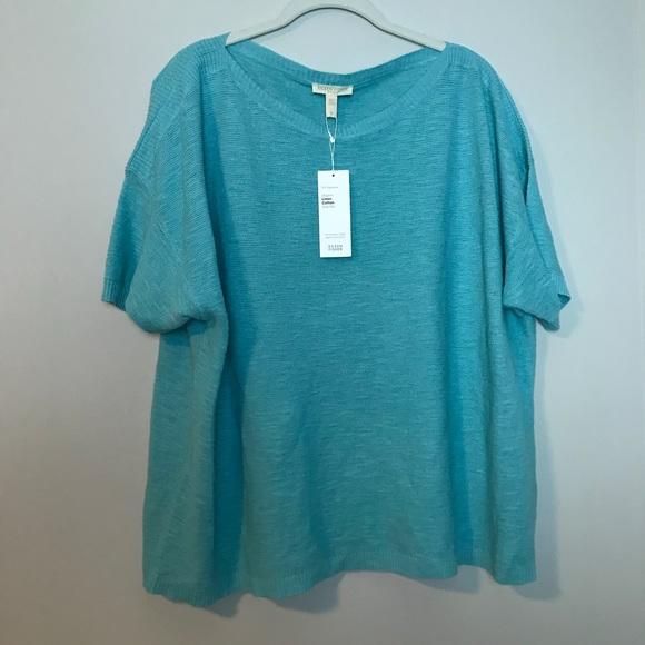 d40ea688a09 Eileen Fisher Plus Organic Linen Cotton Slub Rib