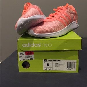 New Coral Adidas Lite Racer