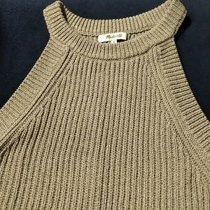 Madewell Knit Sweater Tank in Sage Green