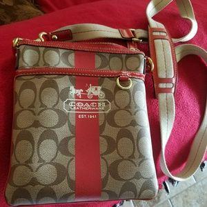 Coach crossbody over the shoulder purse