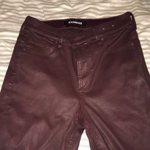 Express women's leather jegging jeans size 2