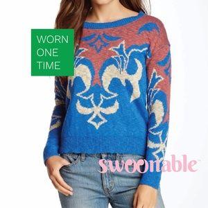 NWOT Anthropologie Damask Sweater L