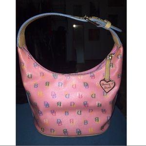 Pink Dooney & Bourke Bucket Handbag
