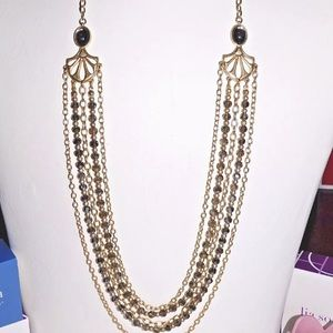 Lia Sophia multi gold strand necklace.
