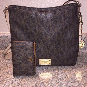 Michael Kors  large crossbody purse & wallet
