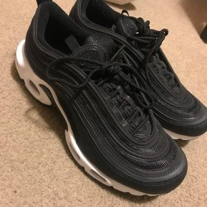 Nike Air Max Plus 97 leather trimmed mesh sneakers NWT