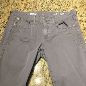 Size 29 Tall Grey Gap Skinny Jeans with Zipper
