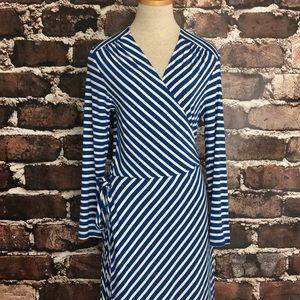 Old Navy new midi length wrap dress long sleeve LP