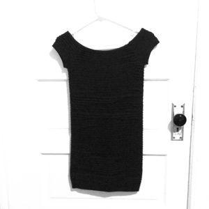 BCBG body con little black dress