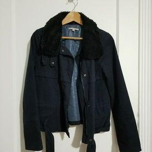 GAP Navy Aviator Jacket Size S