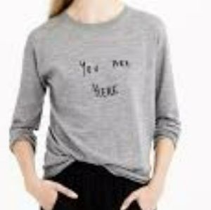 New With Tag J.Crew You are Here Wool gray Sweater
