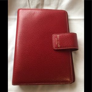 Kate Spade red leather planner agenda