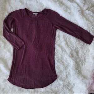 American Eagle 3/4 Sleeve Ribbed Top
