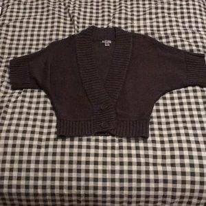 Dark Gray Half Sweater Cardigan