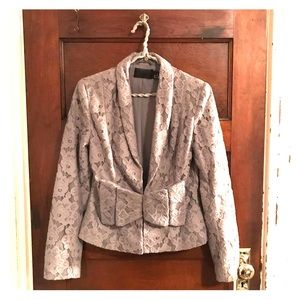 Gray Lace Blazer