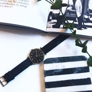 Authentic MARC by Marc Jacobs black gold watch