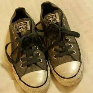 Converse All Star Gray Denim Lo-Top