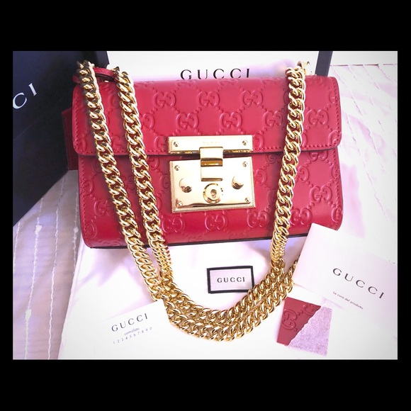 778af5bf67b820 Gucci Handbags - Authentic Gucci padlock, Red.