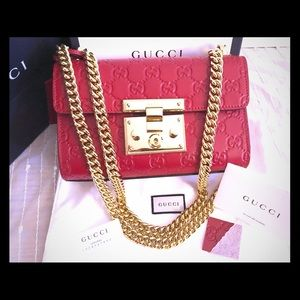 Authentic Gucci padlock, Red.