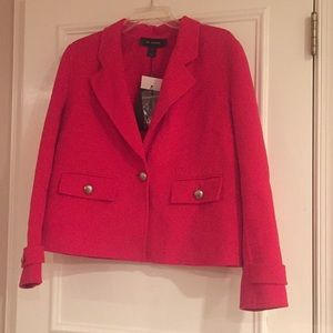 St. John NWT RED Cashmere / Wool Cropped Jacket