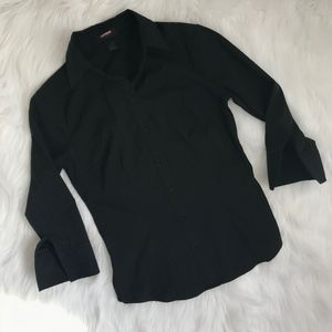 Express 3/4 Sleeve Button Down {S1}