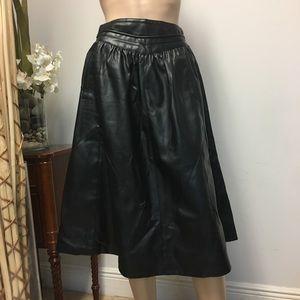 NWT Zara pleated leather black skirt size XS