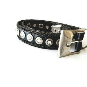 Vintage Leather Metal Mesh Belt