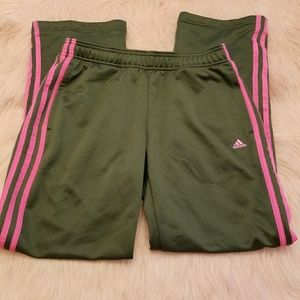 Adidas Climalite Olive Green and Pink pants